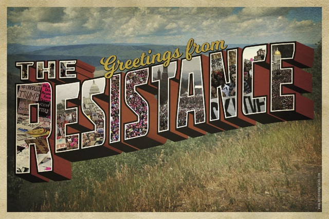 Greetings from the resistance postcard peace supplies greetings from the resistance postcard greetingsfromtheresistanceobverse m4hsunfo