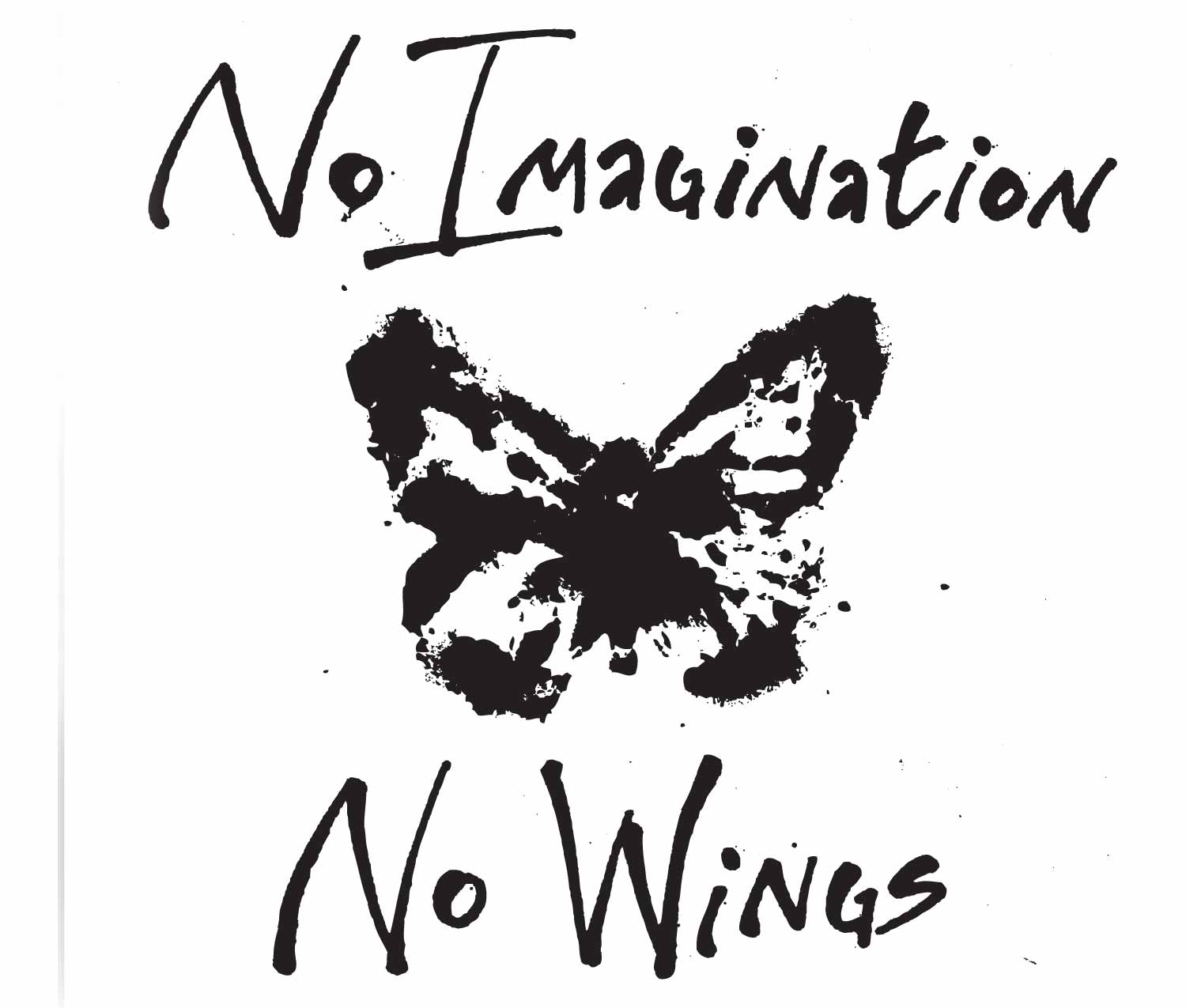 No imagination no wings bumper stickeri support daca bumper sticker home stickers bike stickers no imagination no wings bike sticker