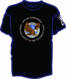Black shirts with colored image for Apache Convoy